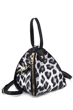 Animal Printed Triangle Bag HB1205 - Grey