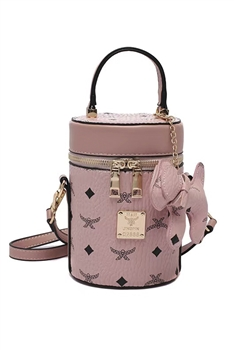 Puppy Cylinder PU Leather Bag HB1206 - Pink