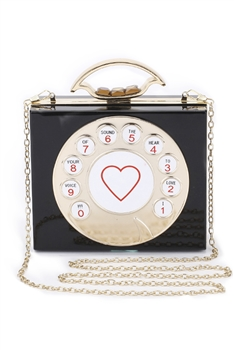 Heart Phone Square Acrylic Bags H1215