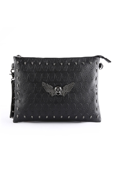 Skull Rivet Pu Leather Clutch HB1278