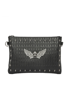 Skull Rivet Pu Leather Clutch HB1280