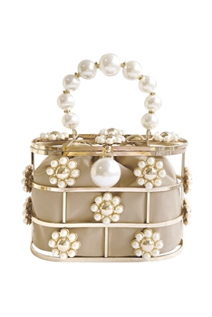 Hollow Basket Pearl Evenning Bag HB1292