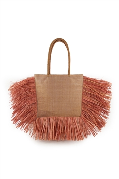 Tassel Pu Leather Tote Bags HB1297 - Orange
