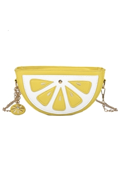 Lemon Pu Leather Crossbody Handbags HB1306