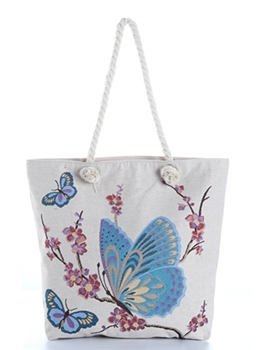 Butterfly Floral Tree Canvas Bag HG092