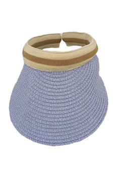 Straw Sun Hat HY3692(ADDITIONAL $0.5 SHIPPING COST) - Blue