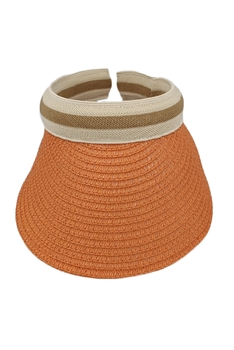 Straw Sun Hat HY3692(ADDITIONAL $0.5 SHIPPING COST) - Orange