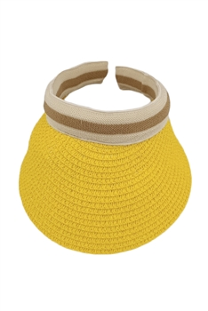 Straw Sun Hat HY3692(ADDITIONAL $0.5 SHIPPING COST) - Yellow