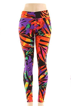 Artistic Printed Leggings HY4342