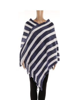 Stripe Ponchos HY7941 - Blue