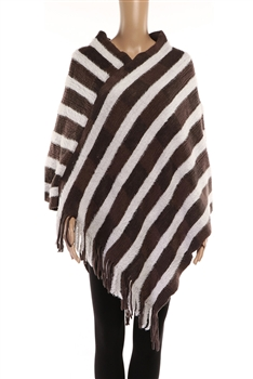 Stripe Ponchos HY7941 - Brown