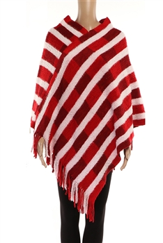Stripe Ponchos HY7941 - Red