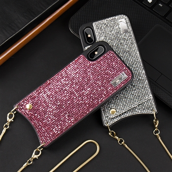 Card Holder Over The Shoulder Phone Case for iPhone IX IP1114