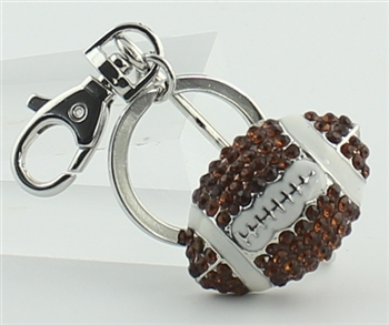 Crystal Rugby Key Chain  K1048