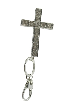 Rhinestone Cross Key Chain K1056