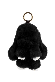Rabbit Plush Key Chain K1061 - Black