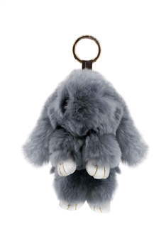 Large Size Rabbit Plush Key Chain K1061 - Grey