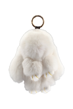 Large Size Rabbit Plush Key Chain K1061 - White