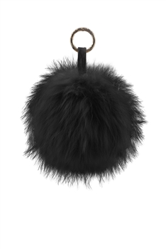 Pompom Fur Key Chain K1076 - Black