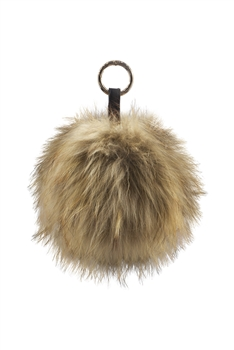 Pompom Fur Key Chain K1076 - Brown