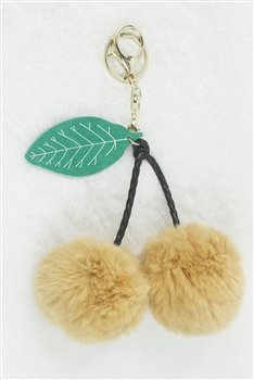 Fur Cherry Key Chain K1082