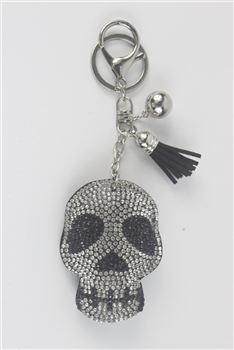 Crystal Skull Head Key Chain K1088
