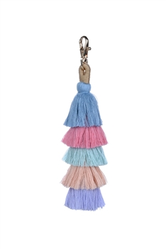 Fashion Multi Color Tassel Key Chains K1108 - Blue