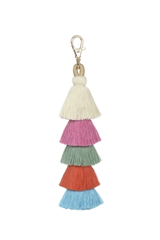 Fashion Multi Color Tassel Key Chains K1108 - Multi