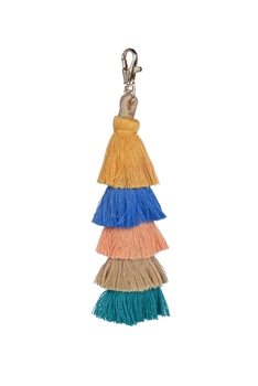 Fashion Multi Color Tassel Key Chains K1108 - Yellow