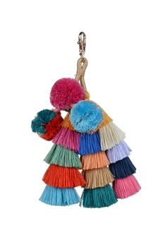Fashion Tassels Dangle Key Chain K1109 - Multi