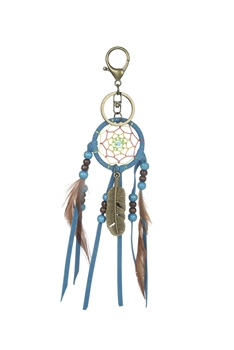 Dream Catcher Feather Key Chain K1115