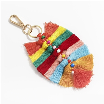 Bohemian Braided Tassel Key Chain K1120