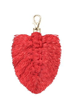 Tassel  Braided Key Chains K1126 - RED