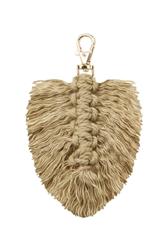 Tassel  Braided Key Chains K1126 - Camel