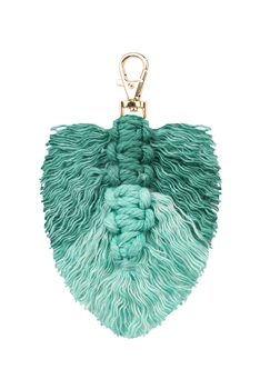 Tassel  Braided Key Chains K1126 - Green