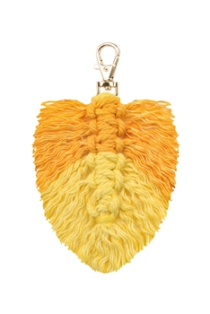 Tassel  Braided Key Chains K1126 - Yellow