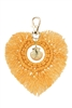 Heart Shaped Tassel  Braided Key Chains K1127 - Yellow