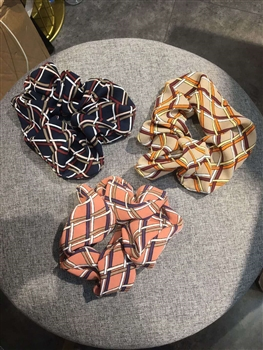Plaid Printed Hair Scrunchies L2324