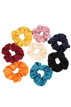 Solid-color Hair Scrunchies L2454