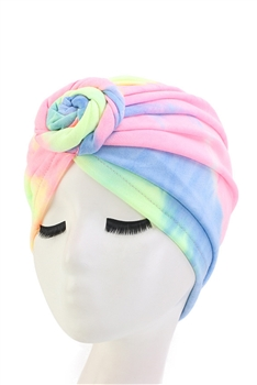 Double Stretch Satin Turban Hat L2471 - Multi