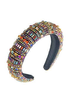 Multi-color Rhinestone Headband L2548