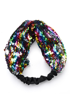 Sequin Fabric Headband L2568 - Multi