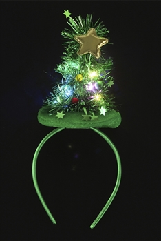 Christmas Tree Headband L2579 - Green