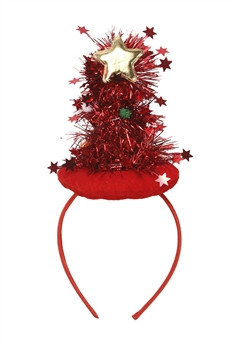 Christmas Tree Headband L2579 - Red