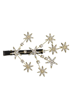 Rhinestone Stars Tree Hairpin L2677 - Gold