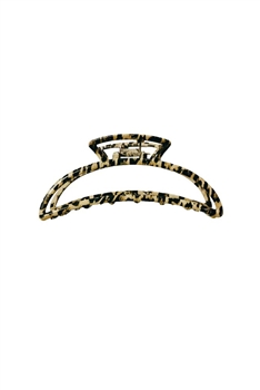 Leopard Printed Moon Shaped Hairpin L2705