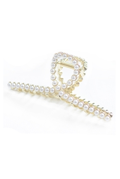 Alloy Cross Hairpin L2707 - Pearl