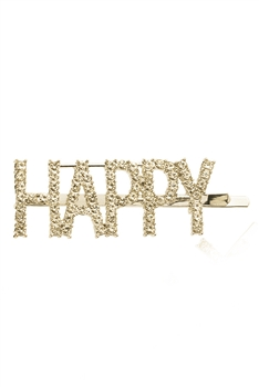 HAPPY Rhinestone Hair Clip L2794 - Gold