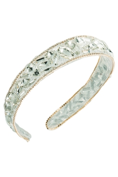 Baroque Crystal Headband L2812 - White