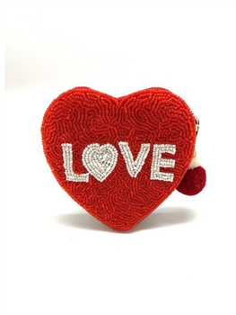 Heart Beaded Coin Purse LAC-CP-1008